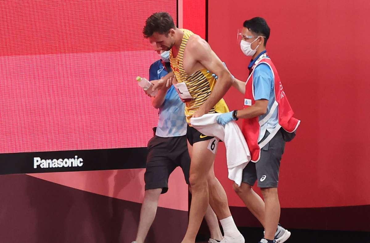Niklas Kaul gab unter Schmerzen auf. Foto: dpa/Jan Woitas