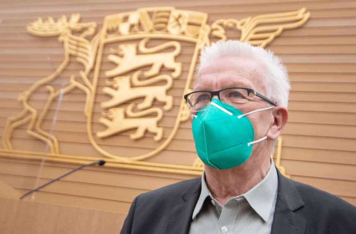 Winfried Kretschmann kann sich den Regierungspartner aussuchen. Foto: dpa/Marijan Murat