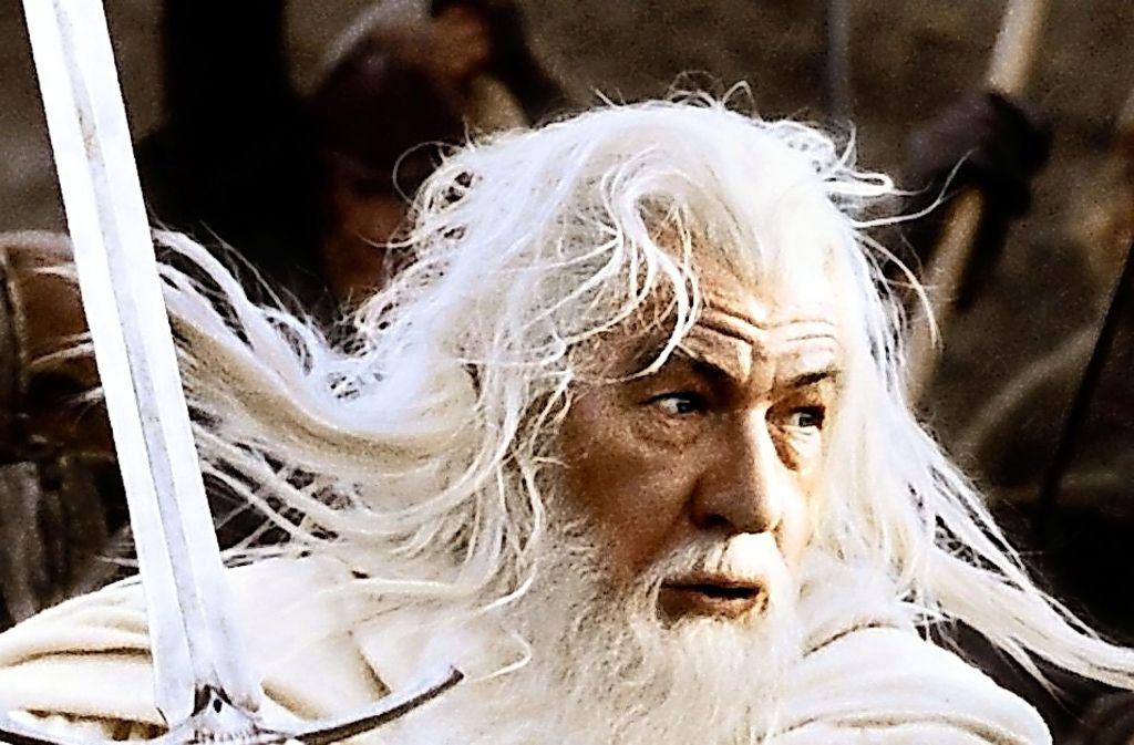 "Der Zauberer Gandalf (Ian McKellen) in Peter Jacksons ""Herr der Ringe""-Verfilmung Foto: Warner"