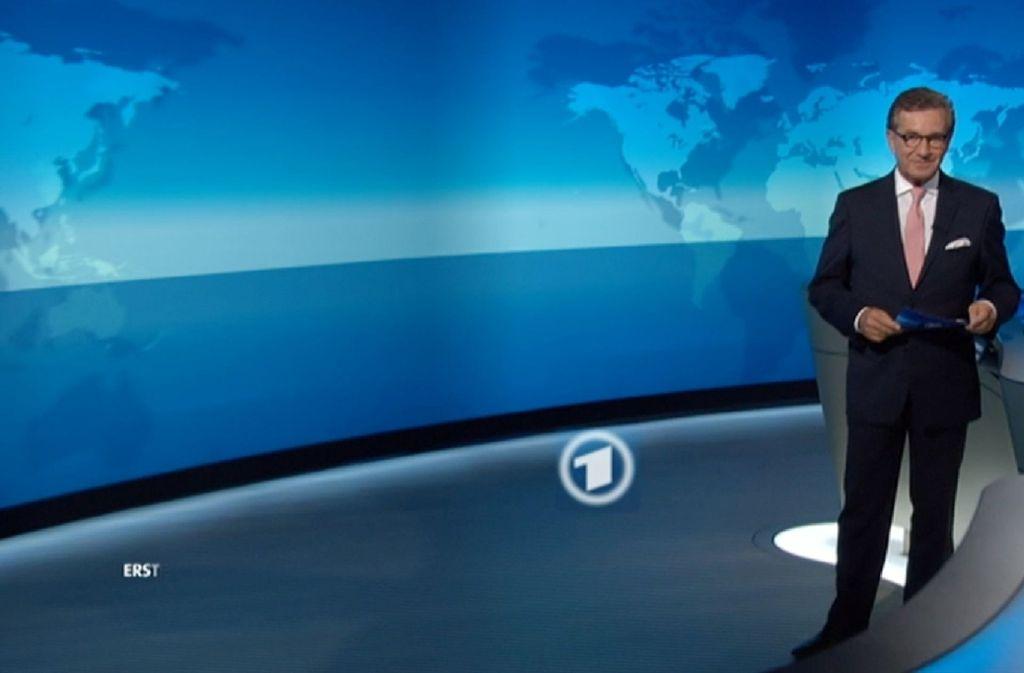 Jan Hofer war während der Sendung deutlich angeschlagen. (Archivbild) Foto: ARD