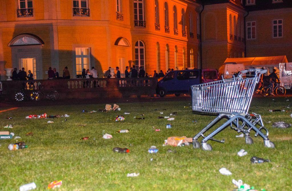 Eskalation in Karlsruhe: Eine Abitur-Feier musste von der Polizei beendet werden. Foto: 7aktuell.de/Fabian Geier