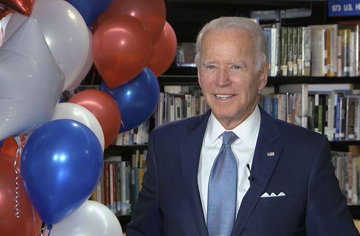 Joe Biden wurde offiziell  zum Präsidentschaftskandidaten der Demokraten nominiert. Foto: dpa/Uncredited