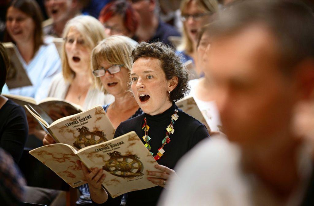 """Endspurt: Am Wochenende werden die  """"Carmina Burana"""" zweimal aufgeführt. Foto: Stoppel"""