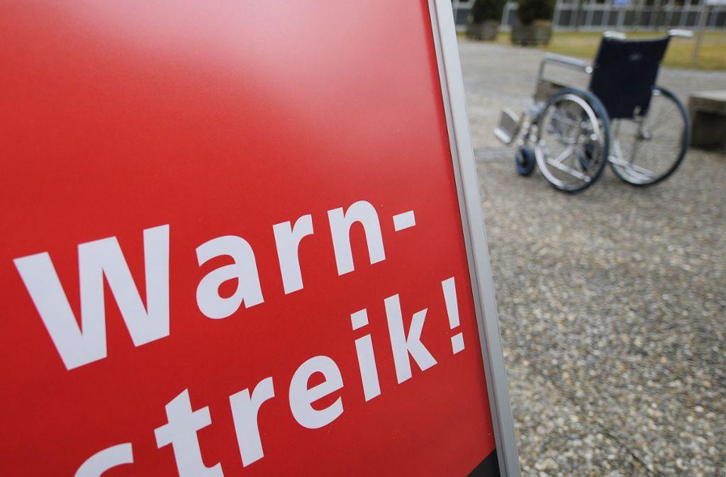 An den Unikliniken gibt es erste Warnstreiks. Foto: AP