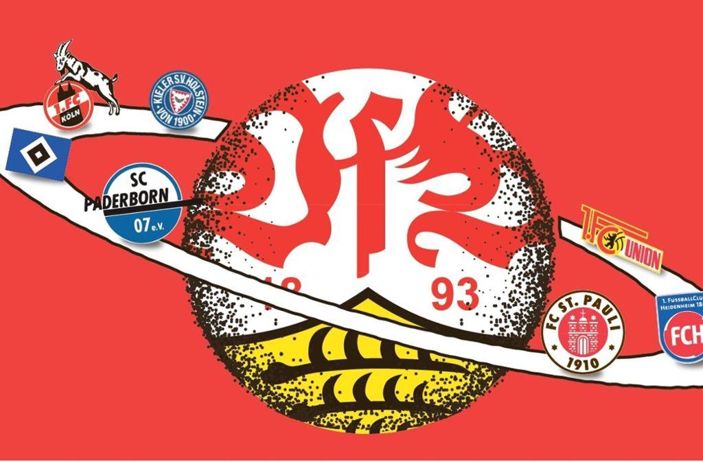 Für den VfB bahnt sich die Relegation an. Köln, der HSV, Union Berlin, St. Pauli, Kiel, Heidenheim und Paderborn sind die möglichen Kontrahenten. Illustration: Ruckaberle Foto: