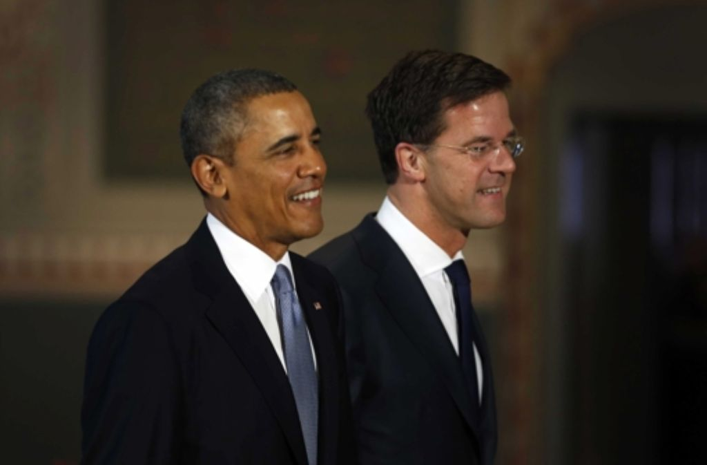 US-Präsident Barack Obama (links)und der niederländische Premierminister Mark Rutte  Foto: dpa