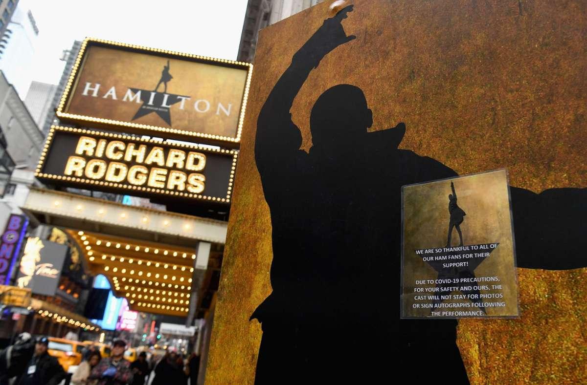 """Das Musical """"Hamilton"""" feierte 2015 am New Yorker Broadway Premiere und löste einen Hype aus. Foto: AFP/ANGELA WEISS"""