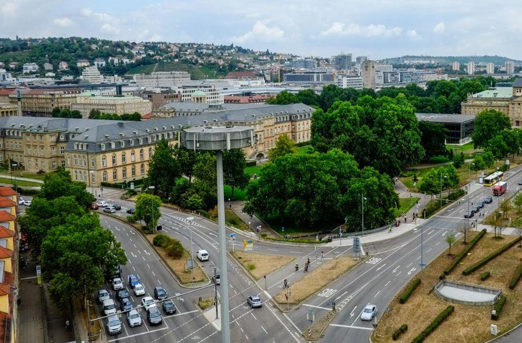 Der Akademiegarten am Schlossplatz darf nicht bebaut werden. Foto: Lichtgut/Max Kovalenko