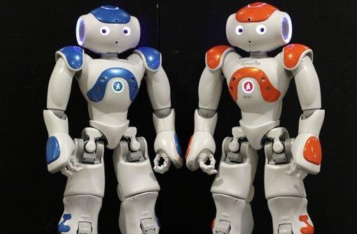 Nao (links) und Birdie sehen niedlich aus, sind aber mit Hochtechnologie  vom Feinsten vollgestopft. Foto: factum/Bach
