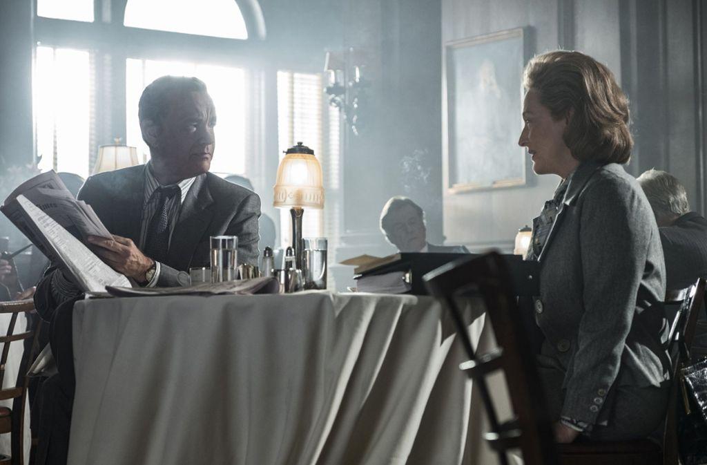 """Meryl Streep mit Tom Hanks in """"Die Verlegerin"""" Foto: Verleih"""