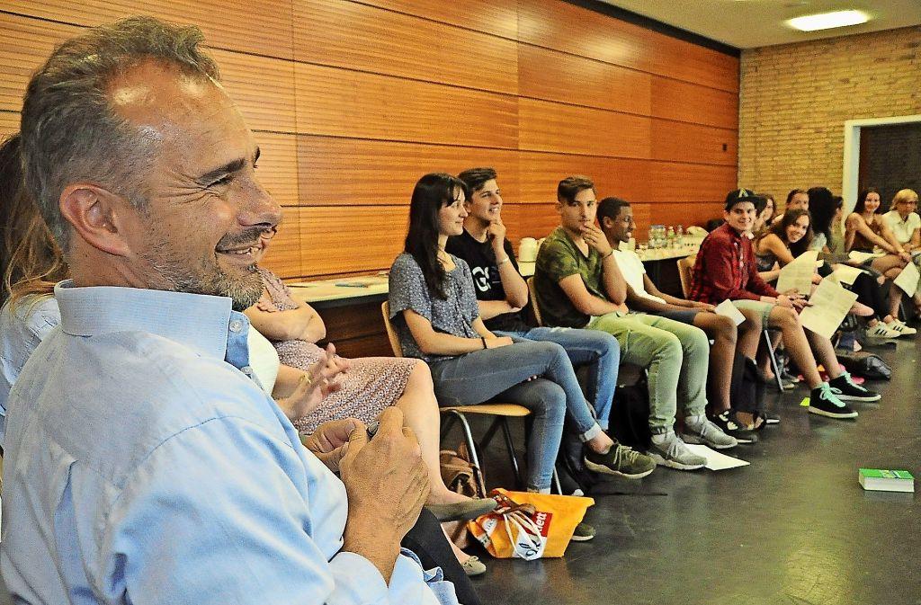 Abdennour Bidar (links) fordert den  Islam zu radikaler Selbstkritik auf. Foto: Georg  Linsenmann