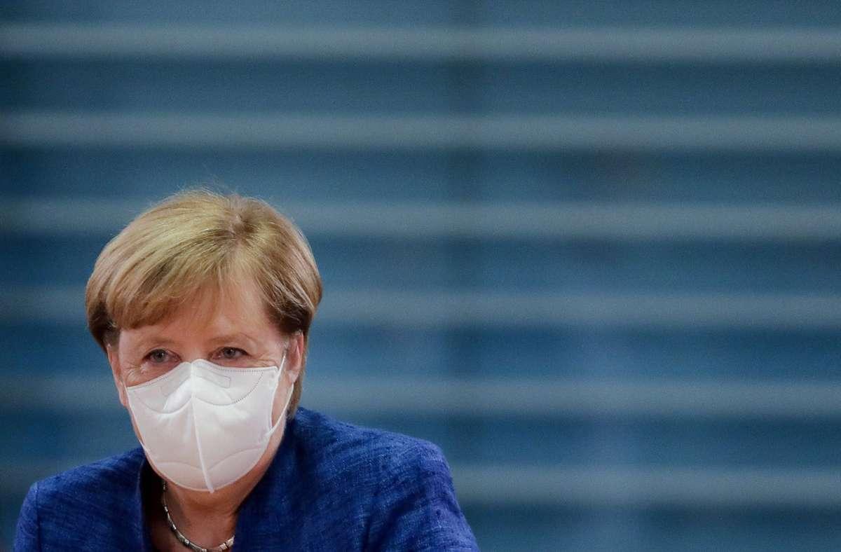 Die Kanzlerin Angela Merkel sieht die Corona-Krise auch als Bewährungsprobe für den Zusammenhalt in der Gesellschaft. Foto: AP/Markus Schreiber