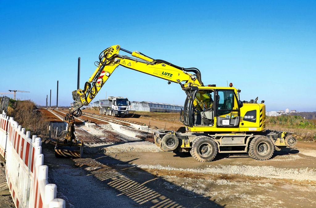 Die Arbeiten für die Verlängerung der U6 sind in vollem Gange. Foto: Thomas Krämer