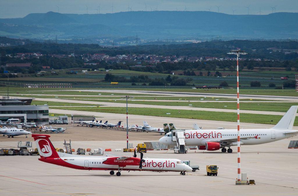 Von den Flugausfällen bei Air Berlin war auch der Stuttgarter Flughafen betroffen. Foto: dpa