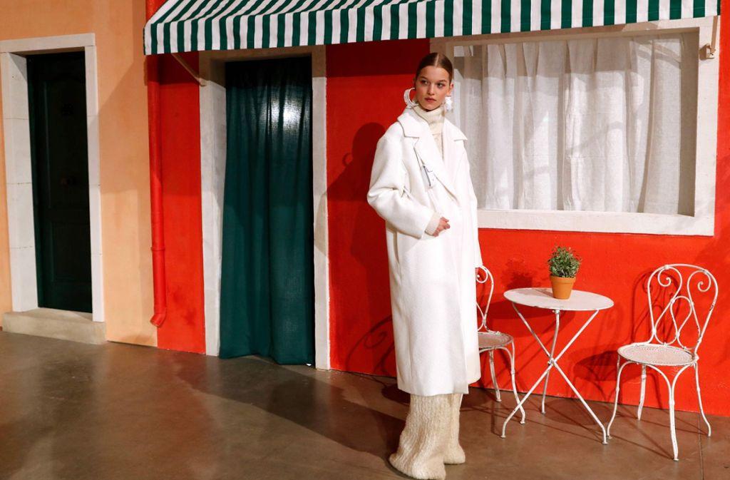 Urlaubsstimmung bei Jacquemus auf der Paris Fashion Week. Foto: AFP