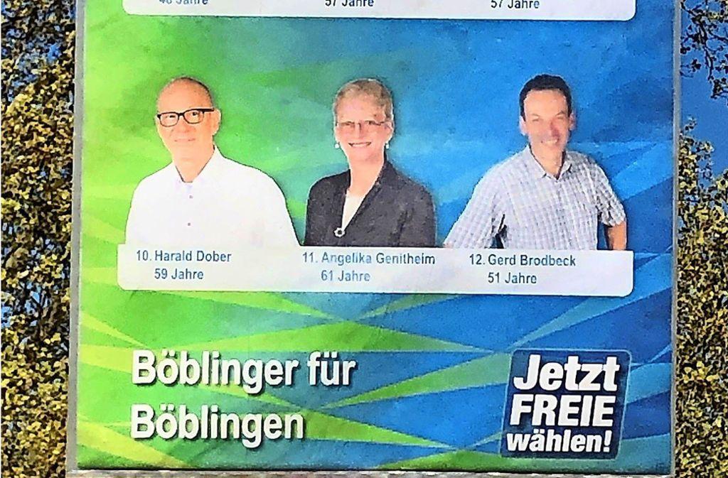 Lauter Böblinger für Böblingen: die Gemeinderatskandidaten Foto: StZ