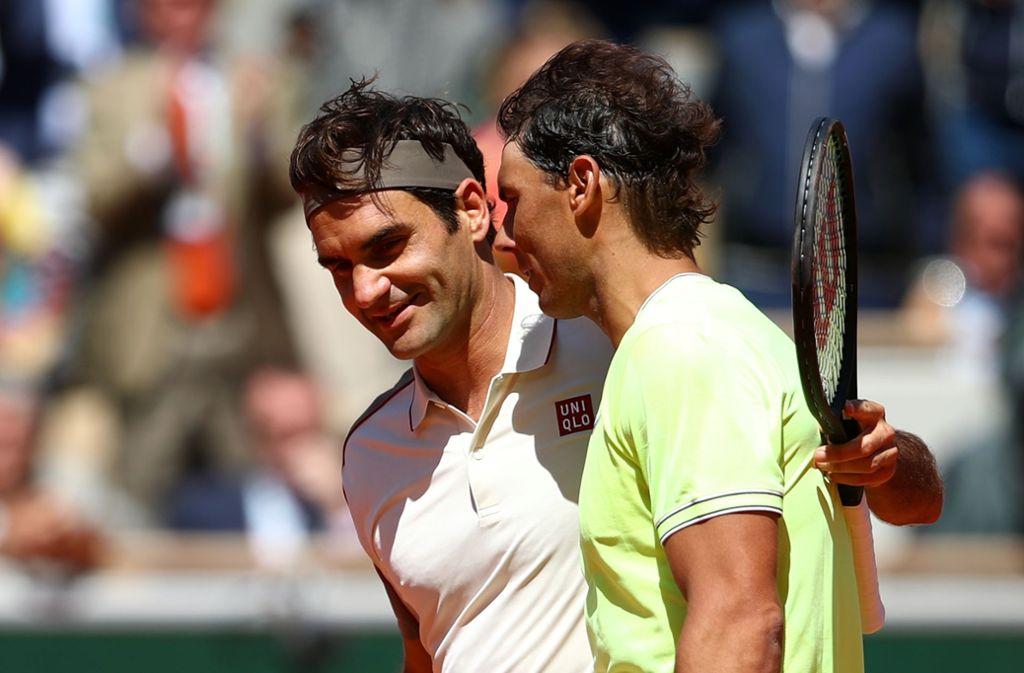Große Rivalen, aber ein bisschen auch wie Freunde: Roger Federer (links) und Rafael Nadal Foto: Getty