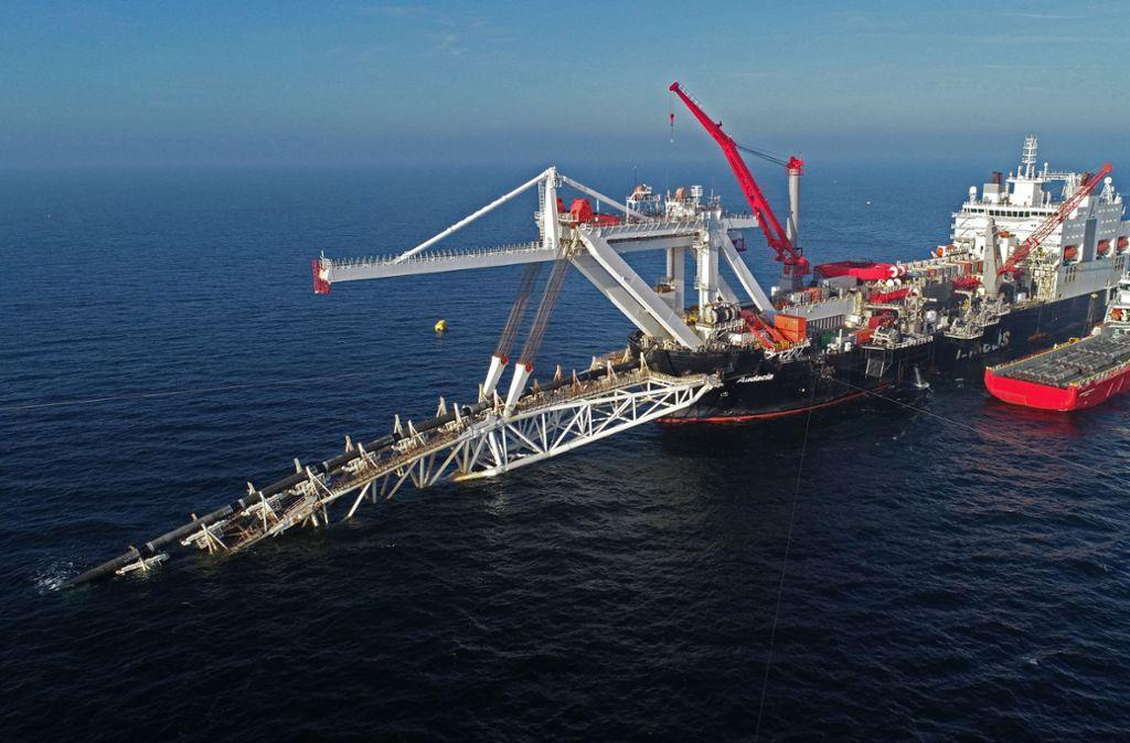 In der Ostsee ist schon ein großer Teil der Pipeline gebaut worden. Foto: dpa