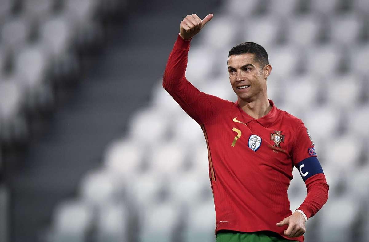 Die Zahl der Abonnenten von Cristiano Ronaldos Instagram-Kanal liegt längst im dreistelligen Millionenbereich. Foto: imago/Nicolo Campo