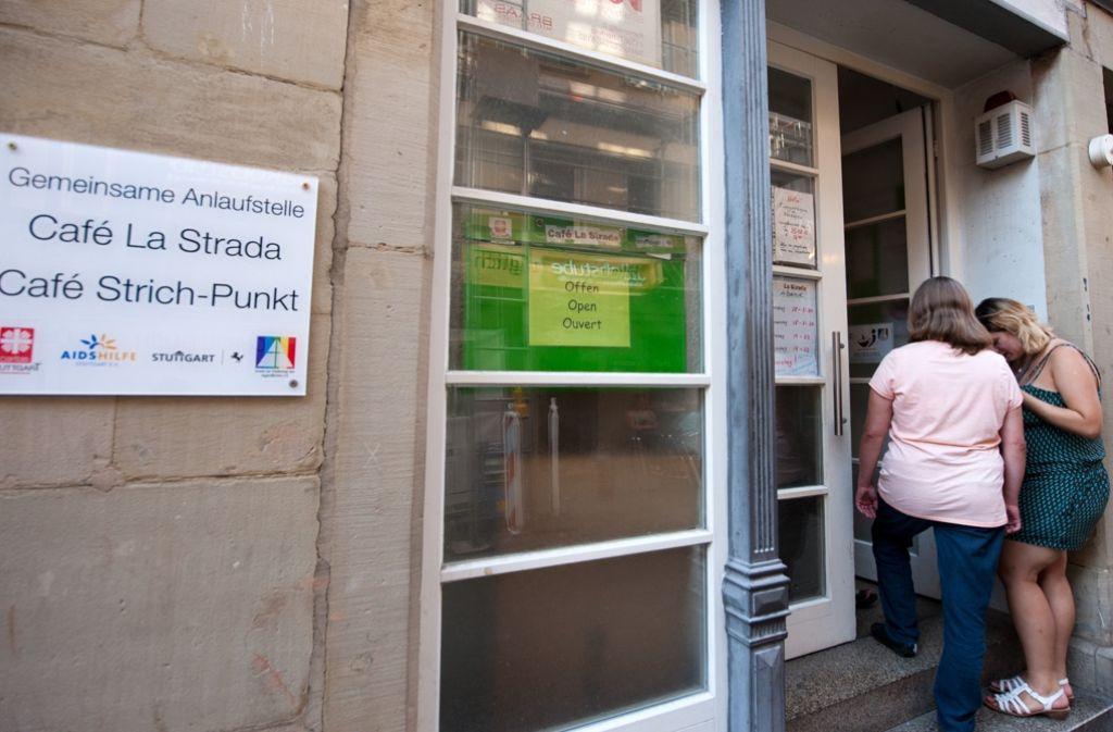 Das Café La Strada im Rotlichtviertel ist Anlaufstelle für Prostituierte Foto: Lichtgut - Oliver Willikonsky