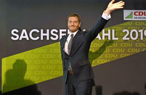 Regierungsbündnis von CDU, Grünen und SPD  steht