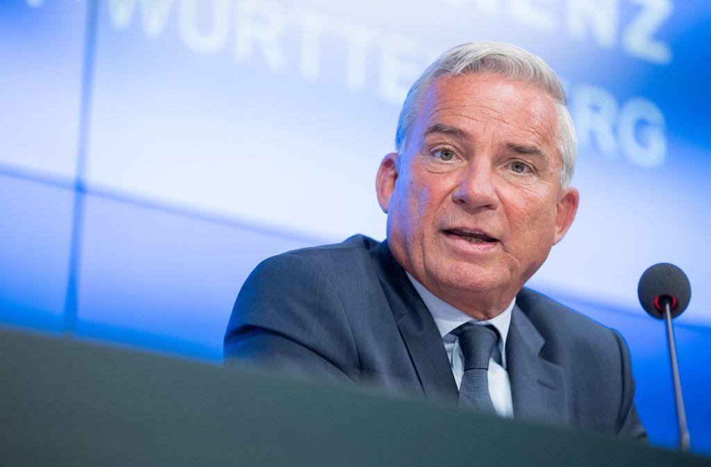 Baden-Württembergs Innenminister Thomas Strobl (CDU) will, dass Schwerverbrecher wie der Täter im Zementmord, Deutschland nie wieder betreten. Foto: dpa