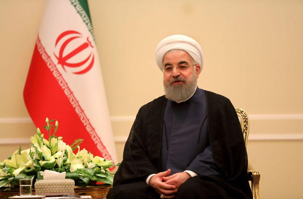 Irans Präsident Hassan Rouhani hat das Ende des IS in Iran erklärt. Foto: AFP