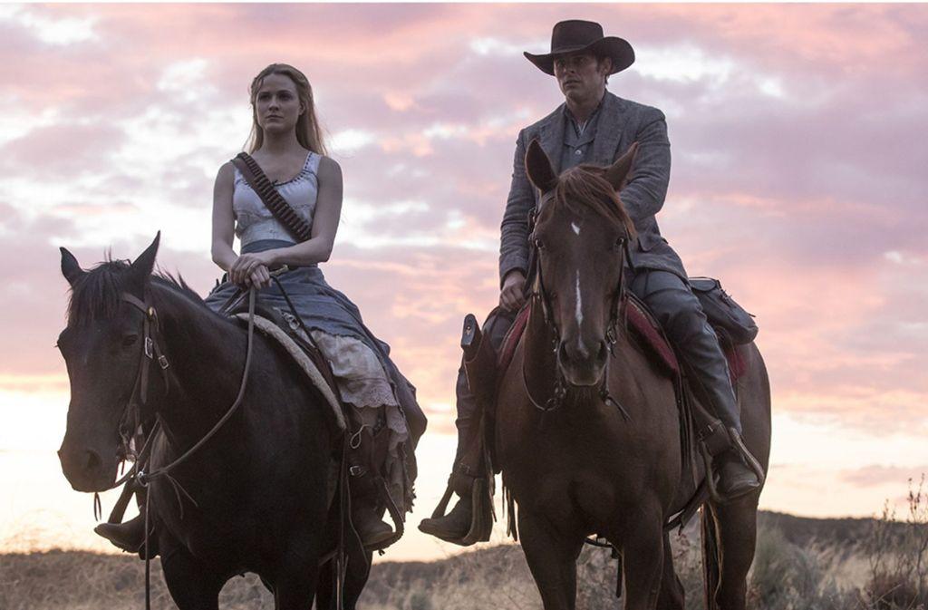 Terminator 2.0: Dolores Abernathy (Evan Rachel Wood) und Teddy Flood (James Marsden) befindet sich auf einem Rachefeldzug. Foto: HBO