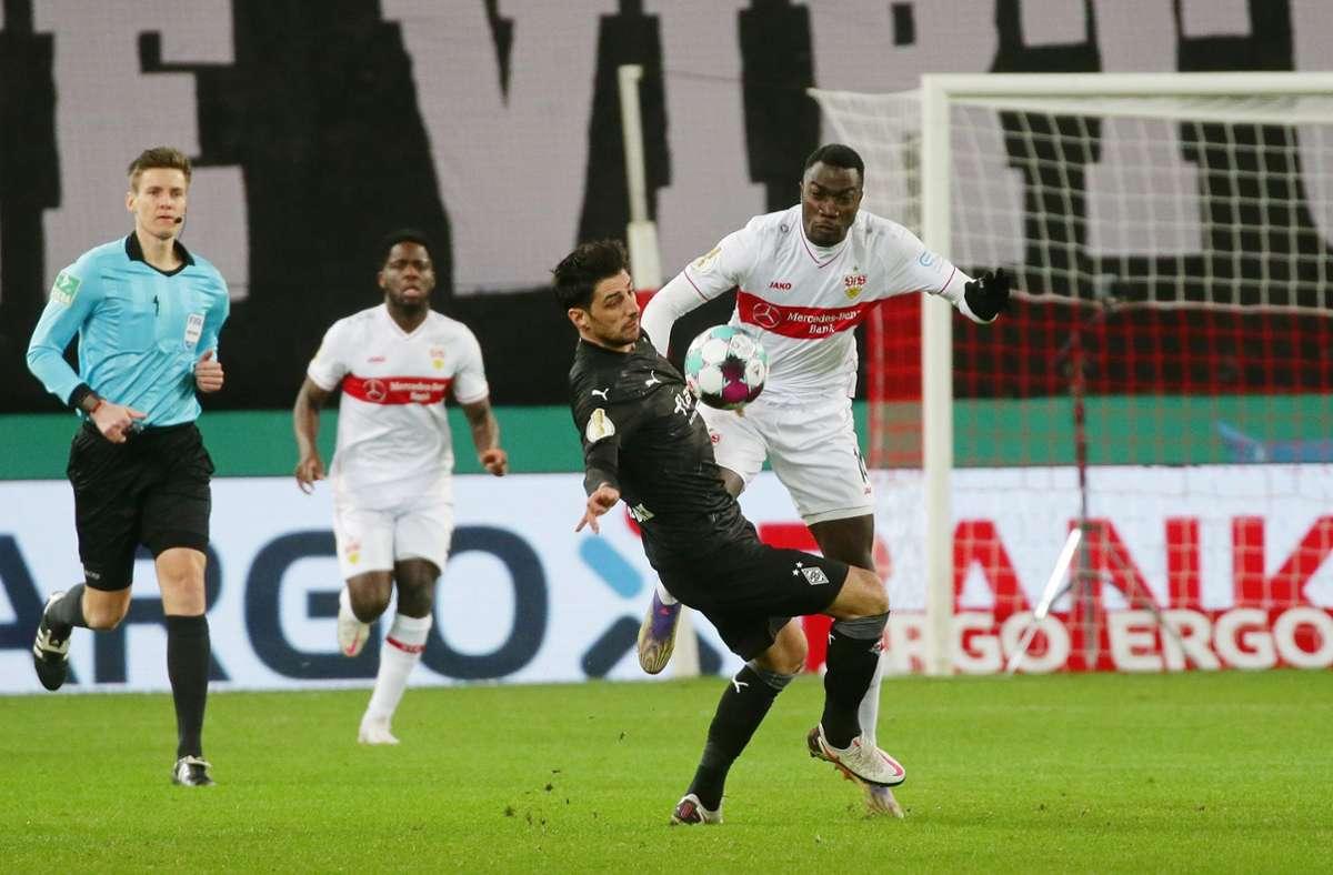 Im DFB-Pokal bekam es der VfB Stuttgart mit Borussia Mönchengladbach zu tun. Wir haben die Leistungen der VfB-Profis wie folgt bewertet. Foto: Pressefoto Baumann/Hansjürgen Britsch