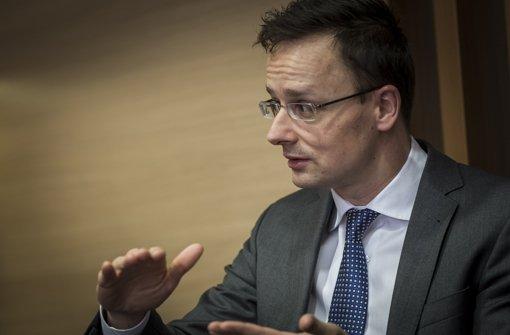 Peter Szijjarto kritisiert die EU in der Flüchtlingsfrage. Foto: Lichtgut/Max Kovalenko
