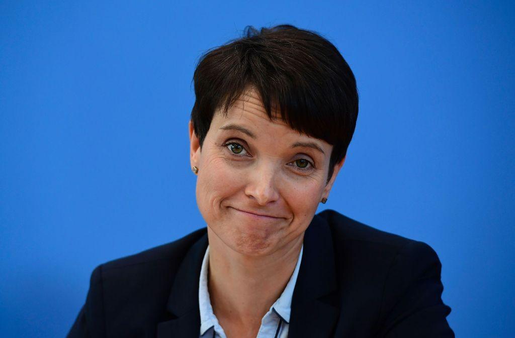Frauke Petry hat in der AfD zahlreiche Gegner.Frauke Petry liebäugelt mit dem Modell à la CDU-CSU. Foto: AFP