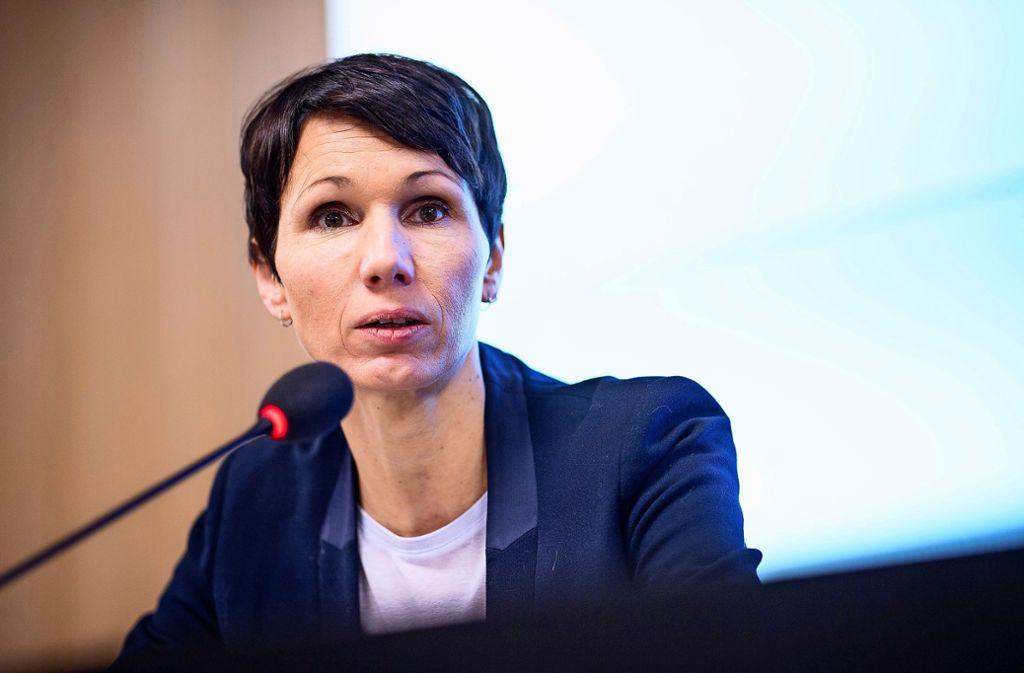 Seit 16 Jahren sitzt Judith Skudelny für die FDP im Gemeinderat von L-E. Außerdem ist sie Bundestagsabgeordnete sowie Generalsekretärin im Land. Foto: dpa/Sebastian Gollnow