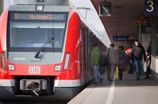 Die S-Bahn fährt nur eingeschränkt