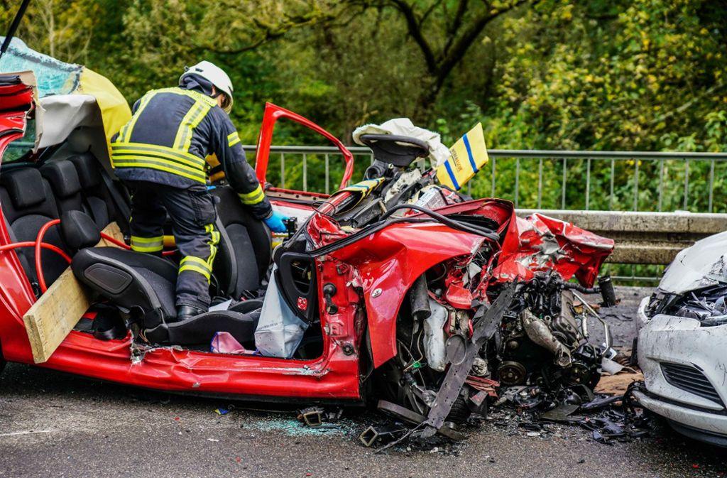 Der Unfall ereignete sich am Donnerstagnachmittag auf der B29 bei Schwäbisch Gmünd. Foto: SDMG/Kohls