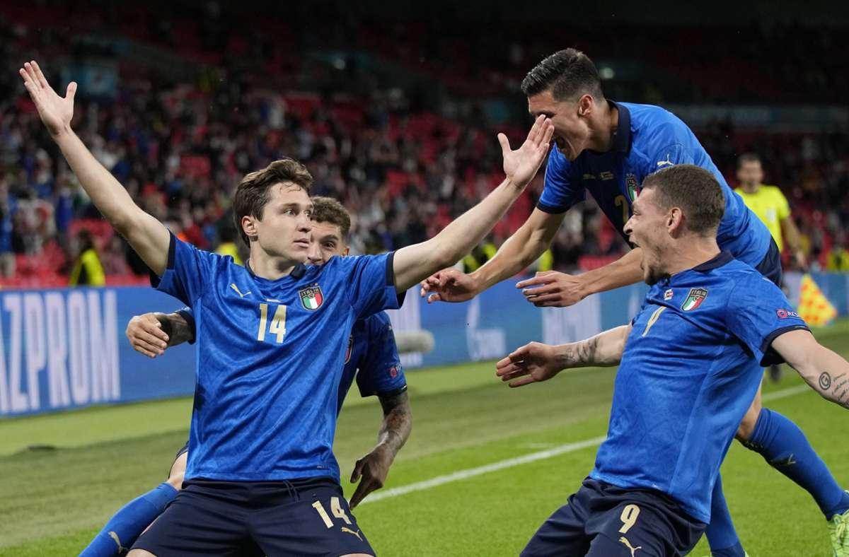Italien trifft im Viertelfinal-Kracher der EM 2021 auf Belgien. Foto: dpa/Frank Augstein