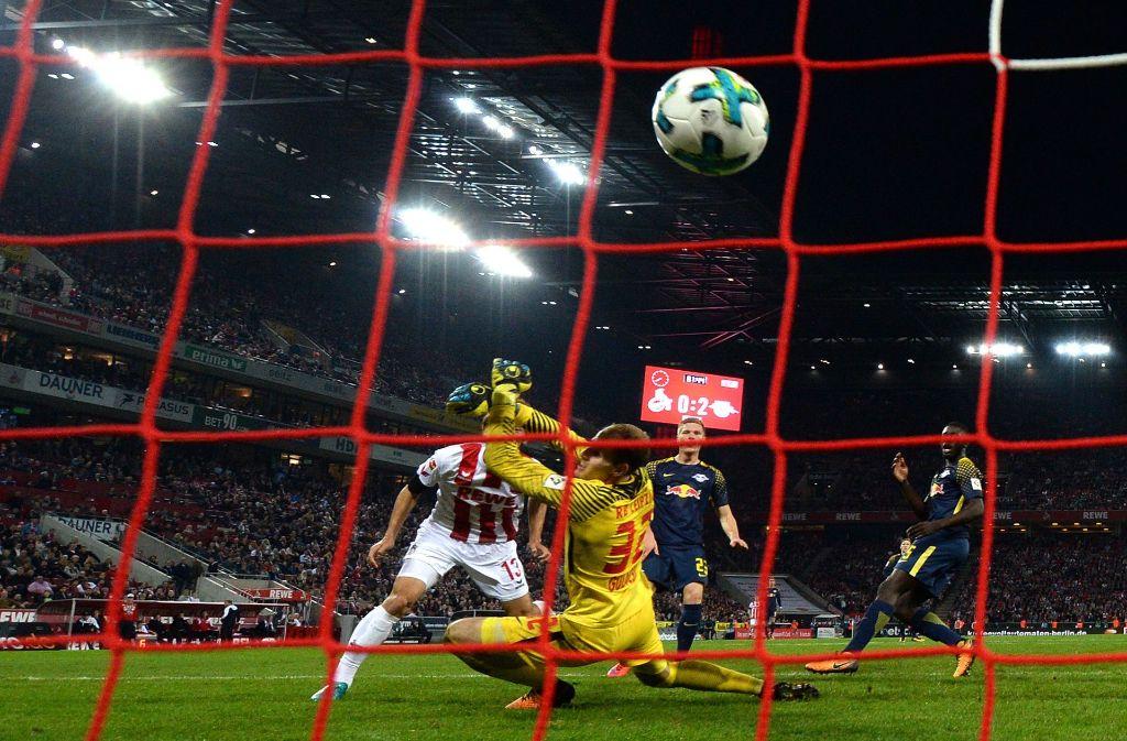 Beim 7. Bundesliga-Spieltag erzielte Kölns Yuya Osako das 1:2 gegen RB Leipzig. Foto: dpa