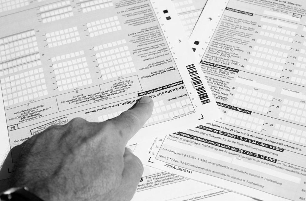 Nicht vergnügungssteuerpflichtig: das Ausfüllen der Steuererklärung Foto: StZ