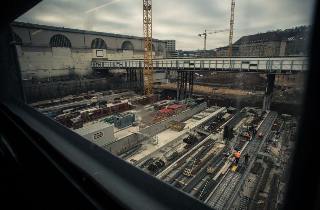 Die Baustelle in der Innenstadt. Foto: Lichtgut/Max Kovalenko