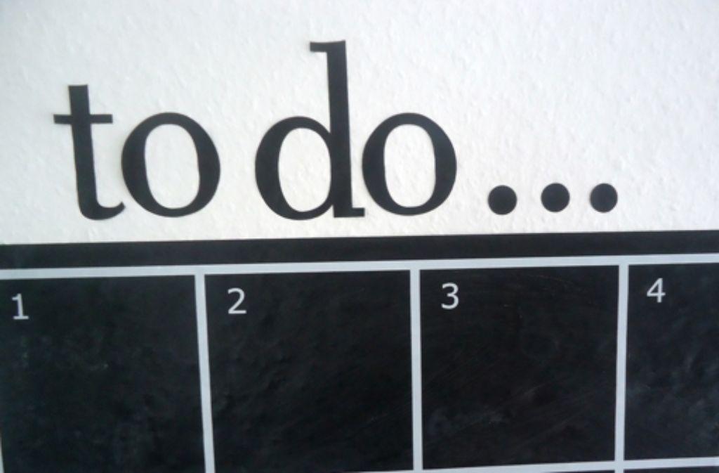 Bis zum Semesterstart gibt es noch einiges zu tun. Damit man nichts vergisst, hilft nur die gute alte To-Do-Liste. Foto: Wiebke Wetschera
