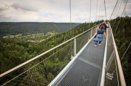 Ansturm auf die Hängebrücken