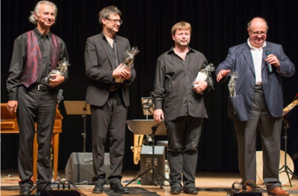 Die Jazzer Vincent Klink, Patrick Bebelaar, Frank Kroll und Carlo Rizzo (v. re.) Foto: Schneider