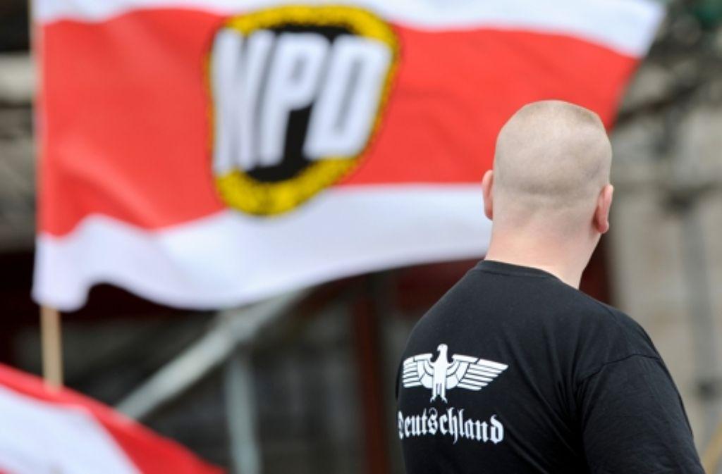 Das Verbotsverfahren gegen die rechtsextreme NPD ist in vollem Gange. (Symbolbild) Foto: dpa