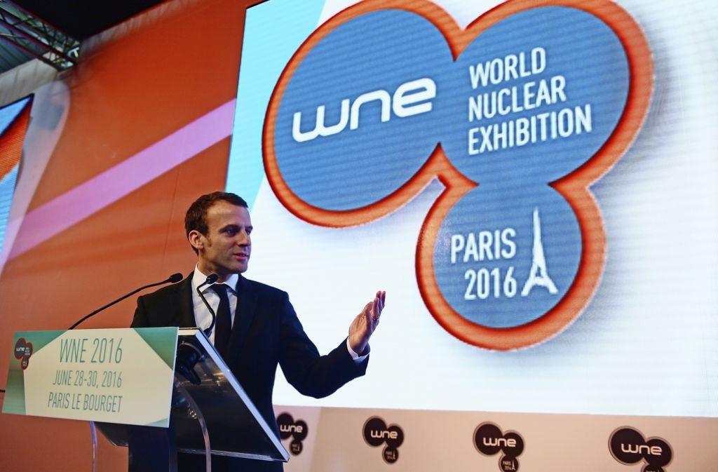 Bei der World Nuclear Exhibition präsentieren sich in Paris 680 Unternehmen Foto: AFP