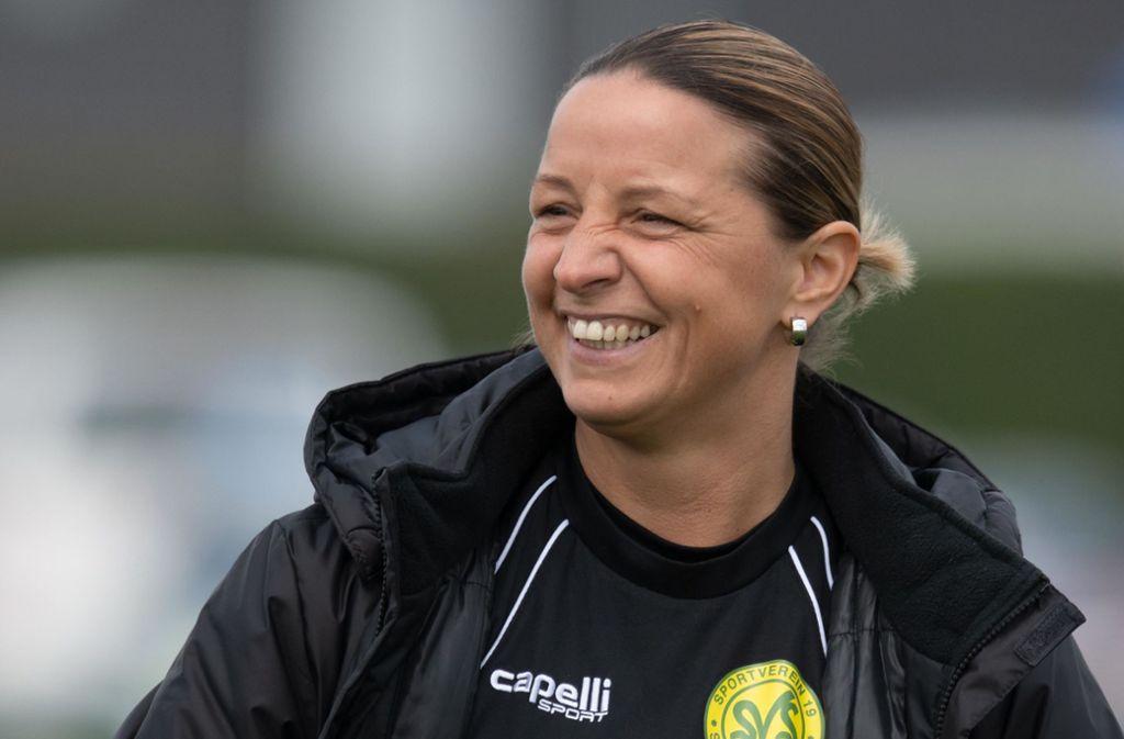 Inka Grings ist mittlerweile Trainerin. Foto: dpa/Bernd Thissen