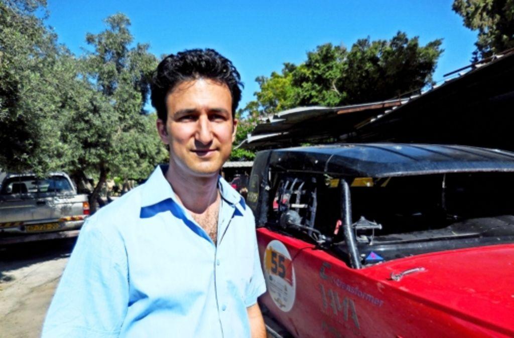 Asaf Formoza will ein Auto bauen, das die Parkplatznot in Städten verkleinert. Foto: Pörtner