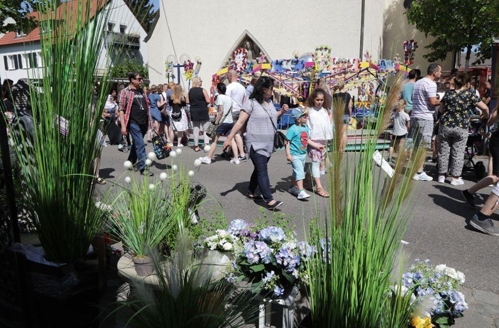 Mediterrane Stimmung beim Maikäferfest in Fellbach. Foto: Patricia Sigerist