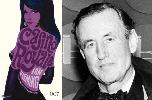 Die schönen Cover der James-Bond-Neuausgabe sind schon von den Filmen inspiriert.  Autor Ian Fleming (re.) hat seine Agentenwelt aber etwas anders angelegt. Foto: Cross Cult/AP