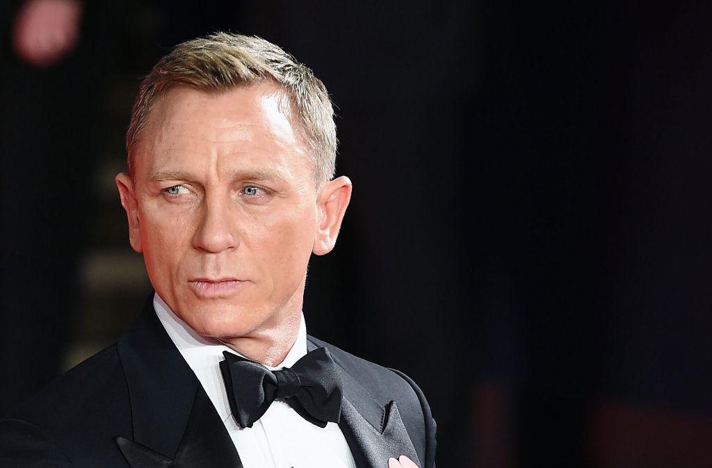 Er ist und bleibt der aktuelle James Bond: der britische Schauspieler Daniel Craig Foto: EPA