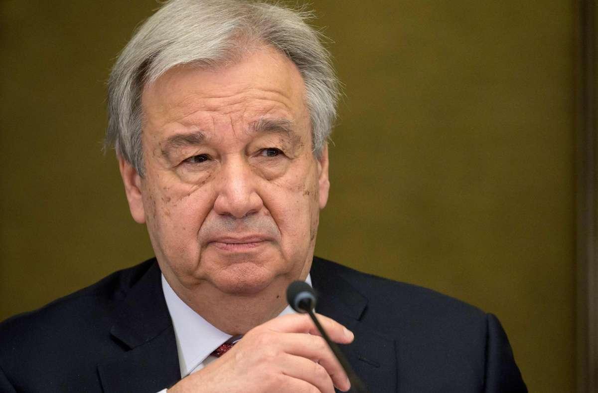 Die UN-Vollversammlung berief António Guterres am Freitag wie erwartet für eine zweite Amtszeit (Archivbild). Foto: AFP/FABRICE COFFRINI