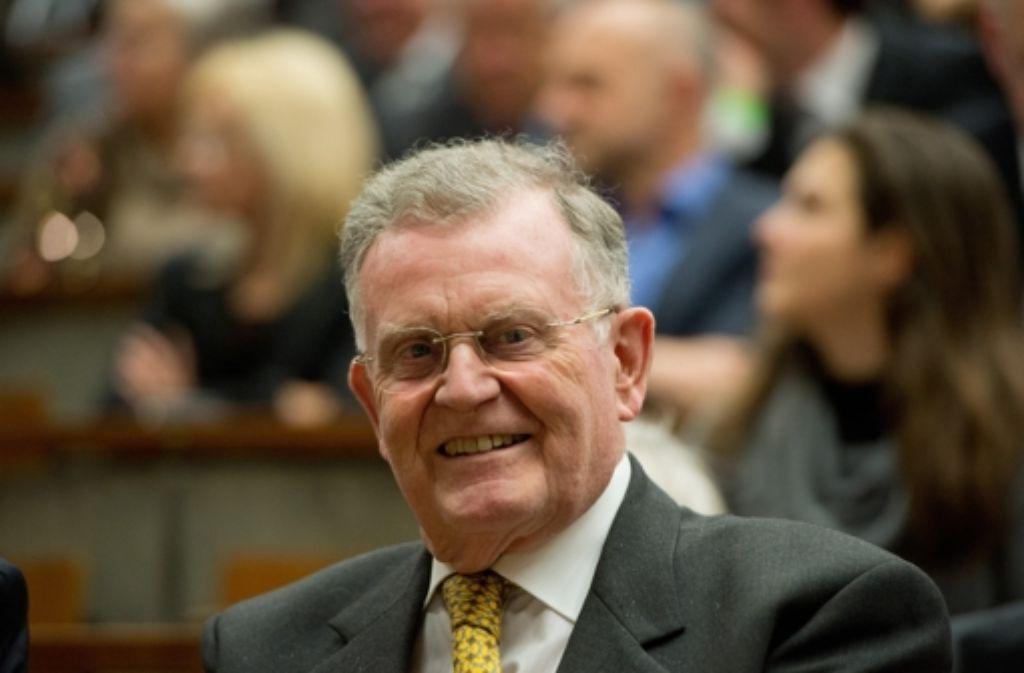 Der ehemalige CDU-Vorsitzende Erwin Teufel trauert um Lothar Späth. Foto: dpa
